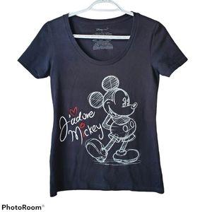 Disney mickey mouse short sleeve T-shirt, size S,
